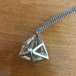 Fun geometric prism necklace!